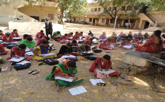 Exam Centre Is Not In Own District - Sakshi