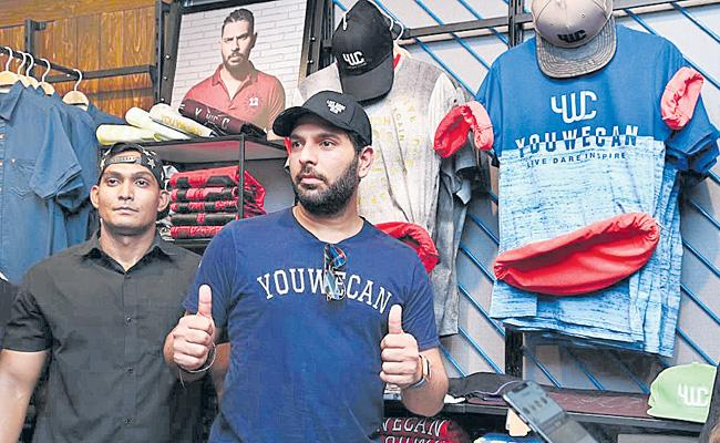 Team India Cricket Player Yuvraj Singh Visits Hyderabad - Sakshi
