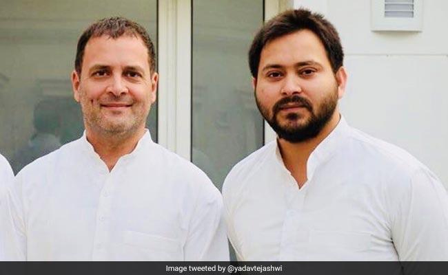 Tejashwi Yadav Meets Rahul Gandhi To Discuss About 2019 Elections - Sakshi