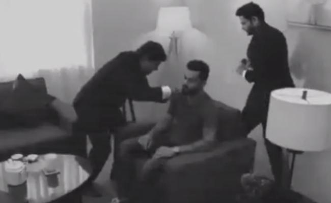 Rahul Shares Footage Of Virat Kohli Getting His Beard Insured - Sakshi