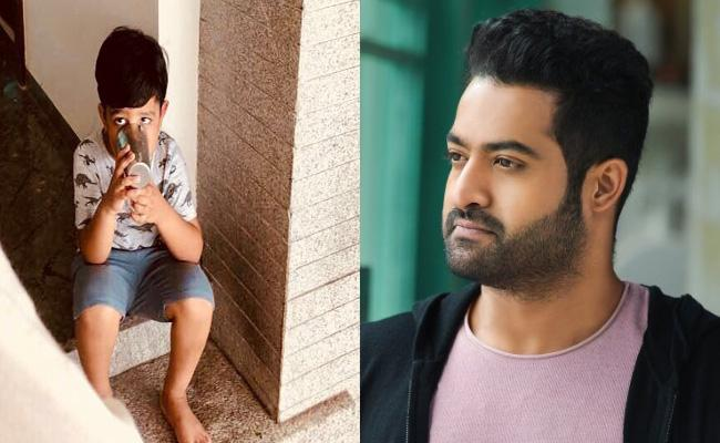 NTR Tweeted About His Son Abhay - Sakshi