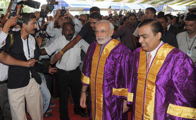 Government Defends Top Billing For Jio Institute - Sakshi