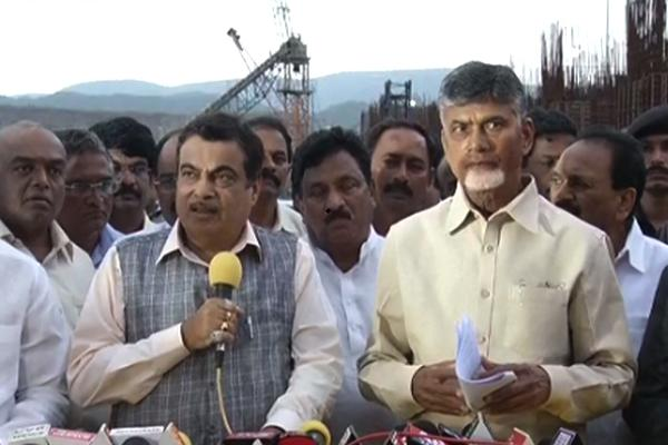 Chandrababu Naidu Struggled To Questions On Polavaram By Gadkari - Sakshi