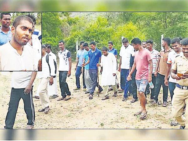 Hyderabad young man Slipped over the hill - Sakshi