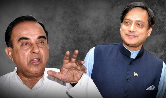 Swamy Attacks Shashi Tharoor For Hindu Pakistan Remark - Sakshi