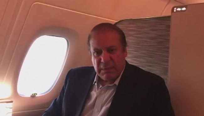 Nawaz Sharif Emotional Words While Journey To Pakistan - Sakshi