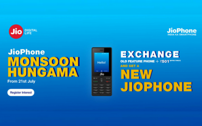 JioPhone Monsoon Hungama Offer Registration Opens - Sakshi
