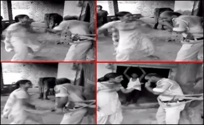 Villagers Beat Police in Punjab - Sakshi