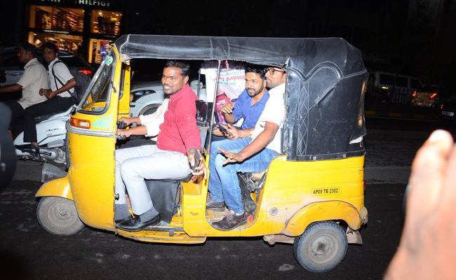 Hero Karthi In Auto Goes Viral - Sakshi
