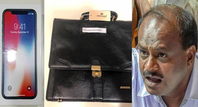 Kumaraswamy Gifted Expensive Articles To MPs Accuses BJP - Sakshi