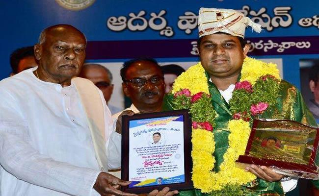 Vidyaratna Award To Dr Harikrishna - Sakshi