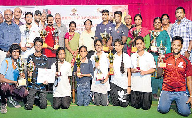 Aditya gets Two More Titles in carrom tournament - Sakshi