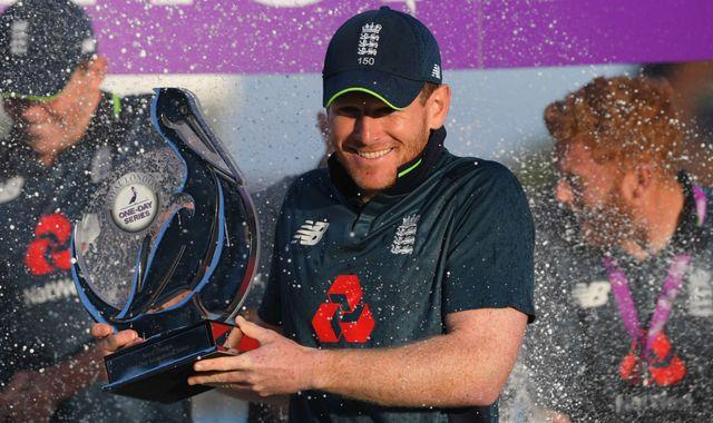 Eoin Morgan says the team were outstanding in third ODI against India - Sakshi