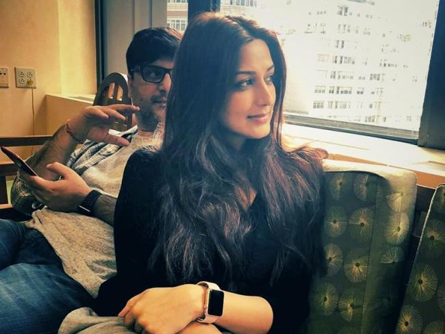 Sonali Bendre Post Reveals How She Told The Bad News To Her Son - Sakshi