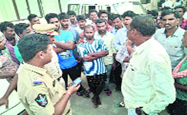 Two Villagers Are Fighting In Eccharla - Sakshi