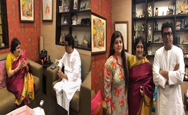 Rajinikanth Wife Latha Meets Raj Thackeray - Sakshi