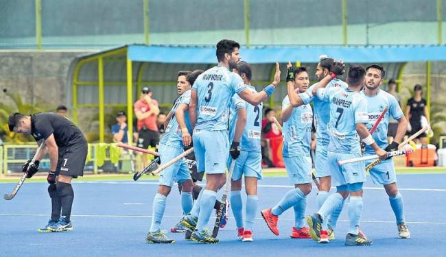 Rupinder brace helps India beat New Zealand 4-2 in first hockey  - Sakshi