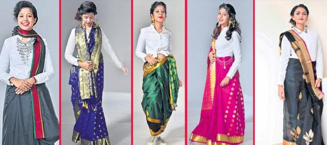 New fashion show to sarees - Sakshi