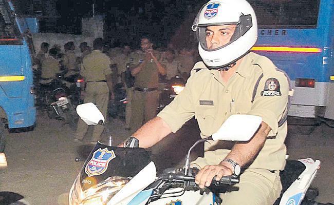 Police Patrolling With High Security In Telangana Villages - Sakshi