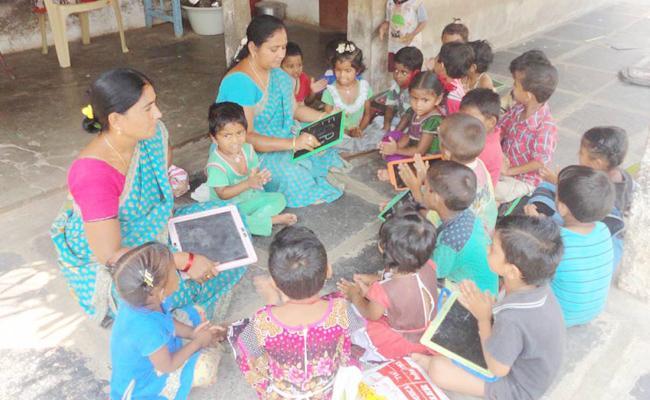 Medicine Shortage In Anganwadi Centres prakasam - Sakshi