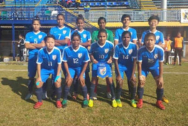 Indian U-17 women's team loses to Brazil in BRICS football event - Sakshi