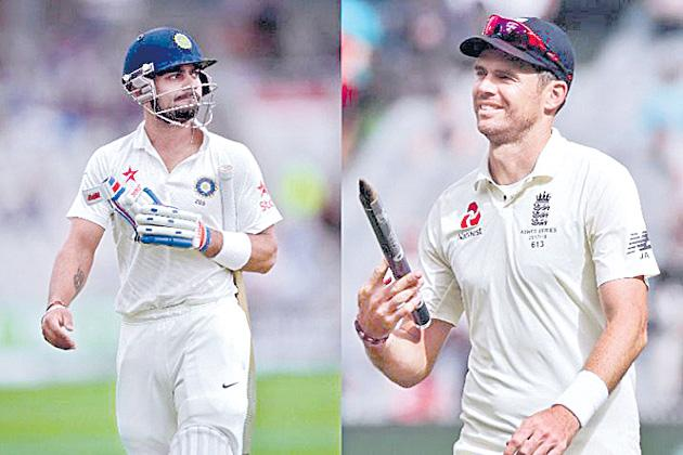 James Anderson mocks Virat Kohli ahead of India-England Test series - Sakshi