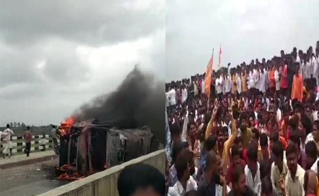 Maratha Community Protests Turns To Violent - Sakshi