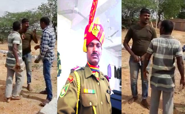 Jawan Arrest Land Issues In Anantapur - Sakshi