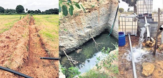 Plenty of water with trenches - Sakshi