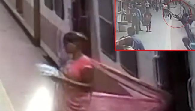 RPF jawan saves woman in Mumbai - Sakshi