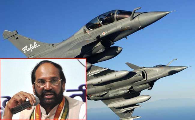 Massive Scandal In Rafel Fighter Jet Deal Said By TPCC Chief Utham Kumar Reddy - Sakshi
