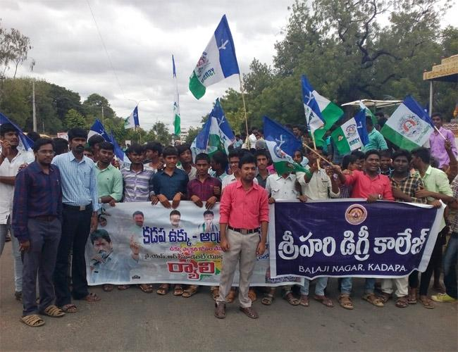 JAC Leaders Protest For AP Special Status YSR Kadapa - Sakshi