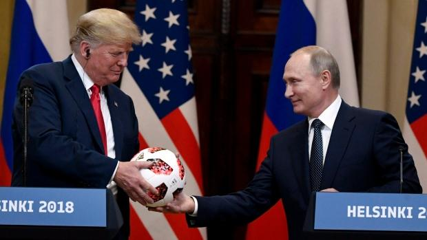 Football Gifted To Trump By Putin Has Microchip - Sakshi