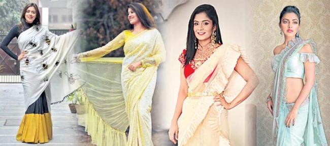 New fashion to Saree - Sakshi