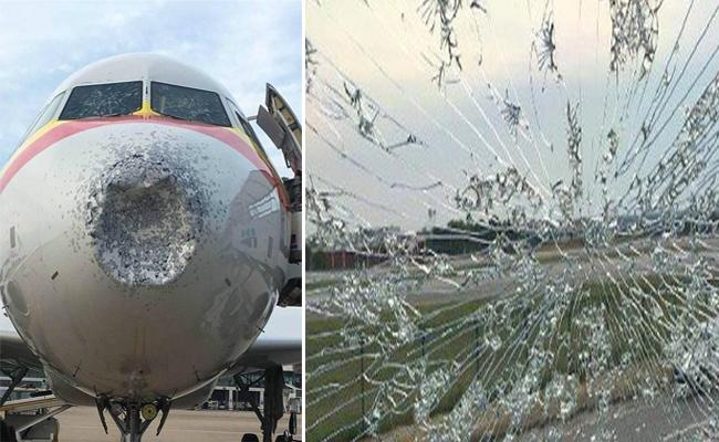 Tianjin Airlines aircraft made an emergency landing in Central China - Sakshi