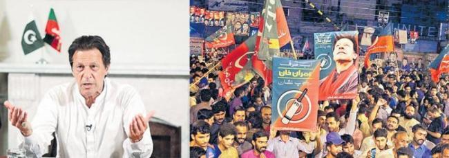 Imran Khan says India and Pakistan should talk on Kashmir - Sakshi