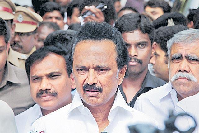 Karunanidhi's Health Has Improved, Says Son MK Stalin - Sakshi