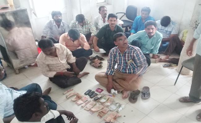 ACB Rides On RTA Office Krishna - Sakshi