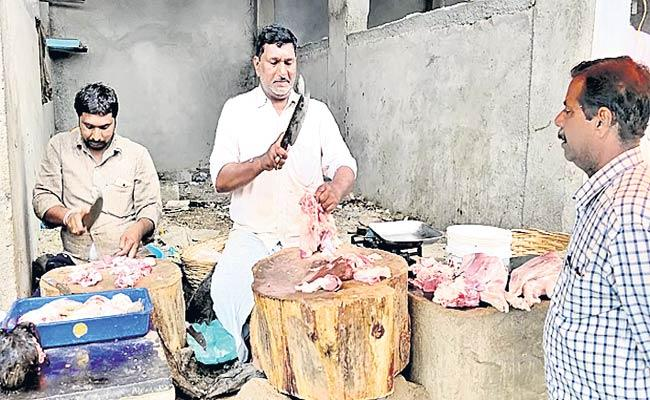 Mutton Shops In Polluted atmosphere - Sakshi