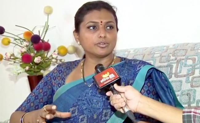 YSRCP MLA Roja takes on Chandra Babu Naidu - Sakshi