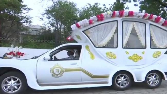 Royals Wedding Car: Wedding Planner Remodels Rolls Royce - Sakshi