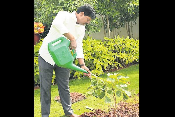 MP Santhosh Kumar accepted green challenge - Sakshi