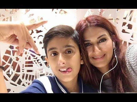 Sonali Bendre Husband Shares Their Son Photo That Says Sonali Is Doing Well - Sakshi