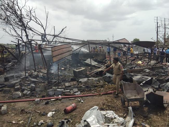 Warangal Fire Accident, Bhadrakali Fireworks Has No Permit - Sakshi