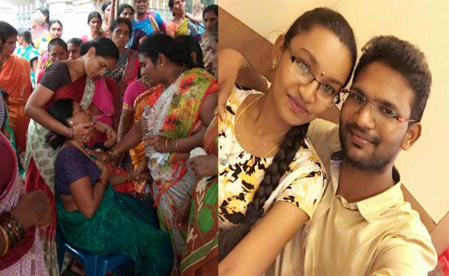 Wife Cheating Husband Selfie Suicide In Krishna - Sakshi