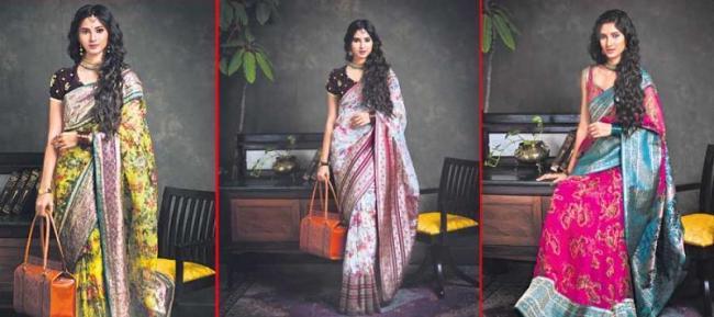 new fashion show :sarees special - Sakshi