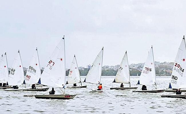 Dileep Kumar shines in Sailing Championship 4th day - Sakshi