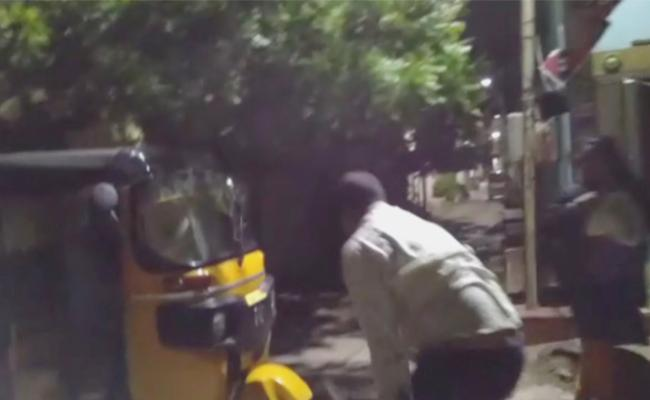 Father Beat His Child in Hyderabad - Sakshi
