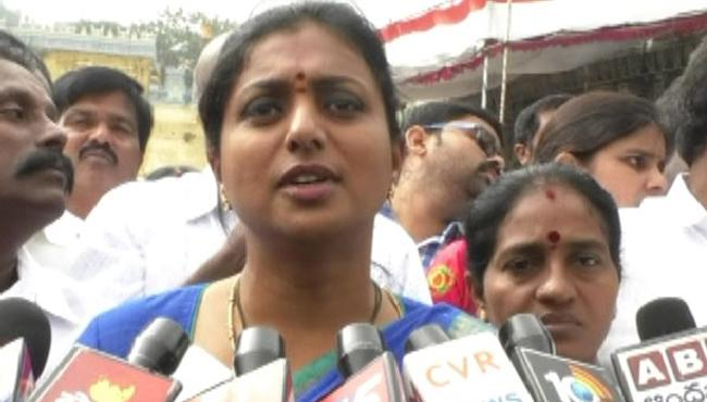Roja Slams TDP Government Regarding Srivari Jewellary - Sakshi
