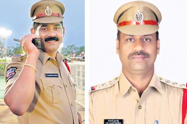 Suspension of two corrupt inspectors - Sakshi